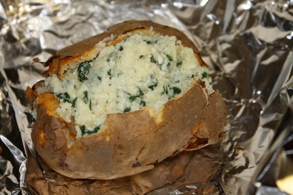 spinach ricotta potato