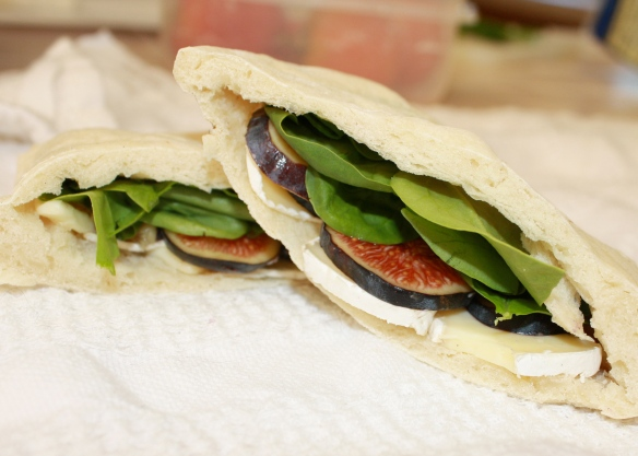 fig brie spinach