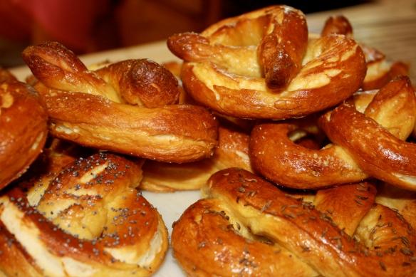 lots of pretzels
