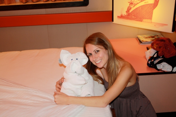 Penelope the Pig, my favorite towel animal of the cruise
