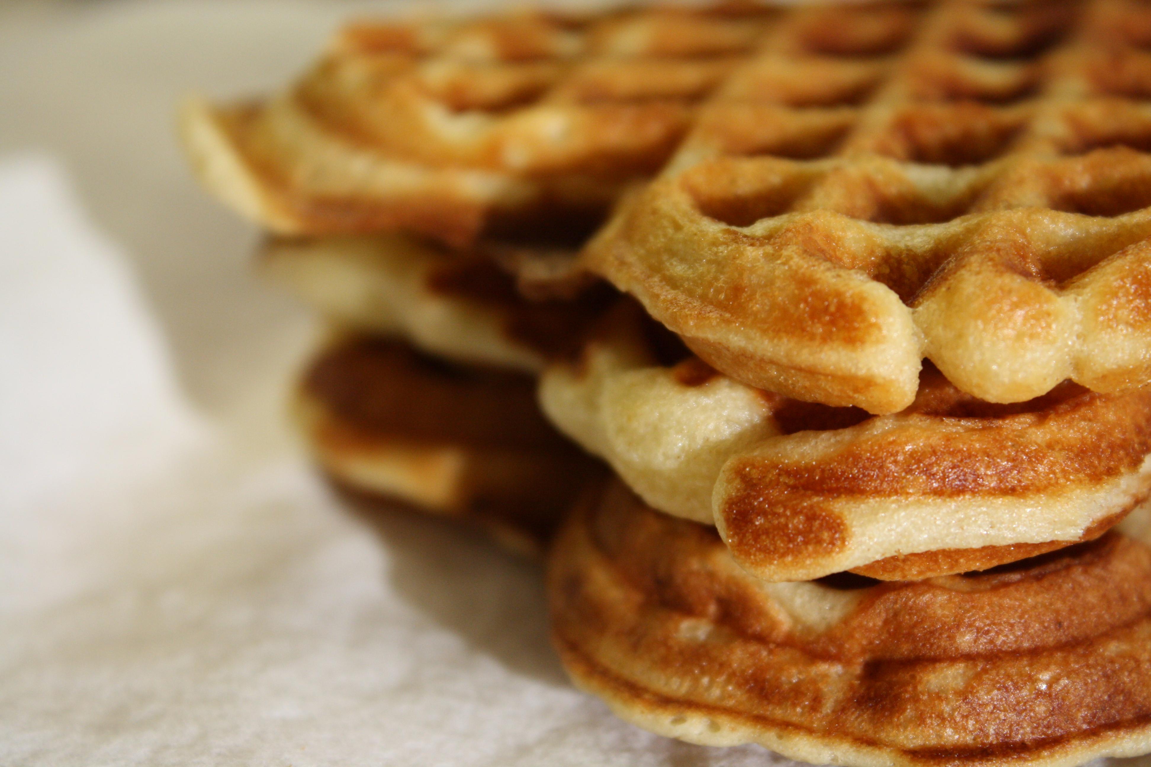 Yeast-Risen Brown Butter Waffles | Sweet Life Laur