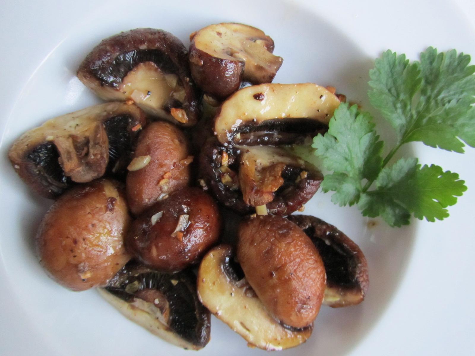 Garlic Butter Roasted Mushrooms Recipes — Dishmaps