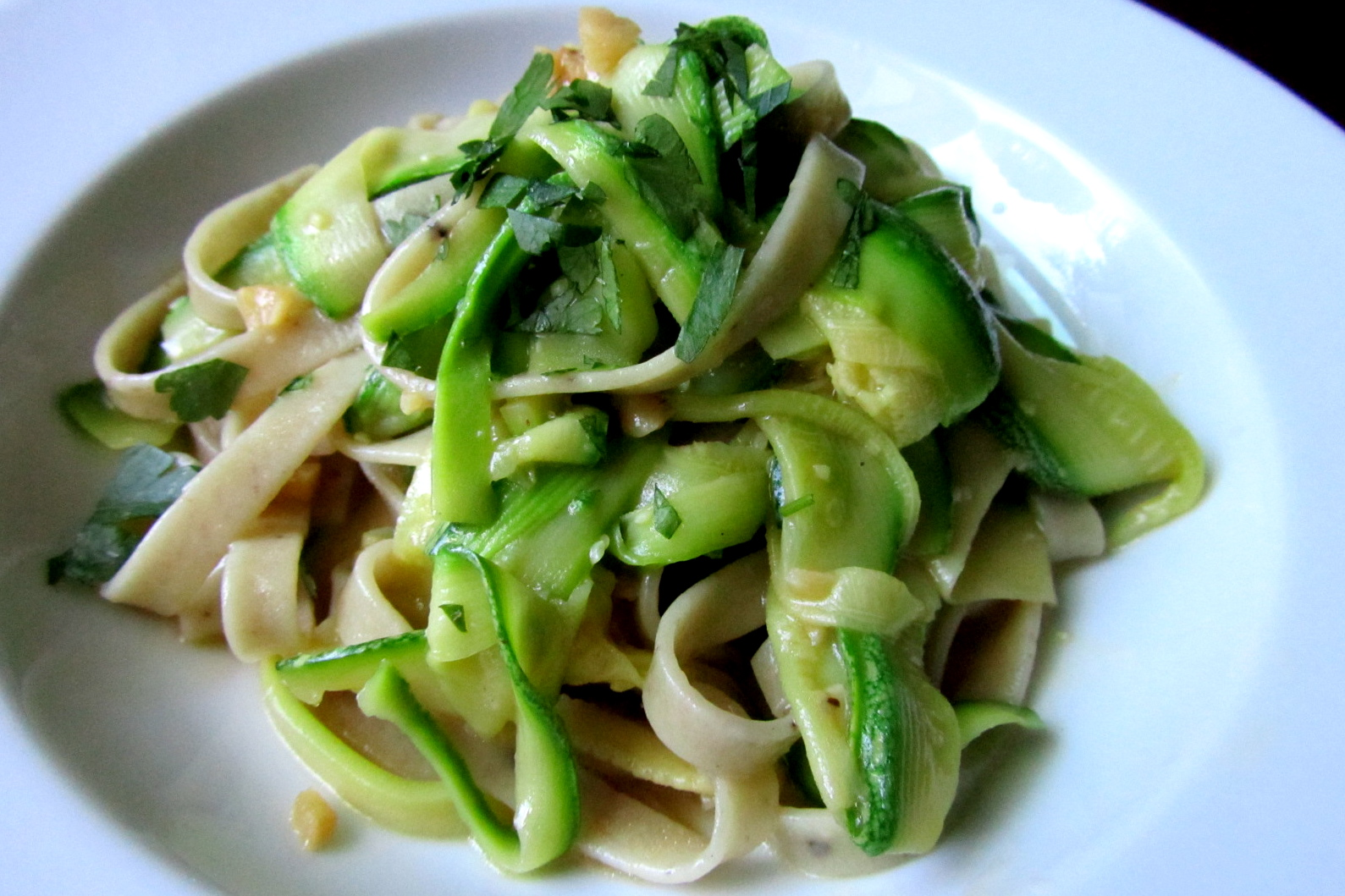 Spaghetti With Peas And Zucchini Ribbons Recipes — Dishmaps